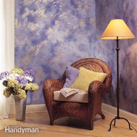 sponge paint  wall  family handyman