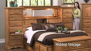 Mid Wall Headboard with Secret Compartments - YouTube