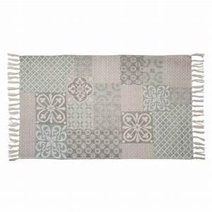 Tapis En Coton : tapis en coton 60 x 100 cm cemento maisons du monde ~ Nature-et-papiers.com Idées de Décoration