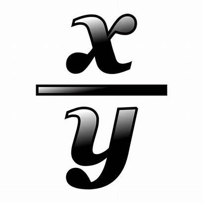 Math Fraction Clipart Clip Icon Xy Algebra