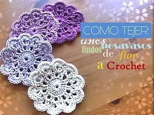 COMO TEJER unos lindos POSAVASOS de flor a crochet ...