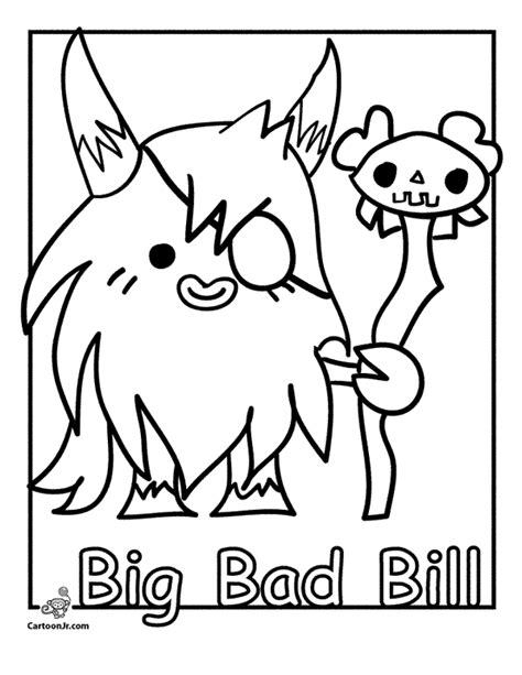 Moshi Monsters Moshlings Coloring Pages : Color Luna | 613x474