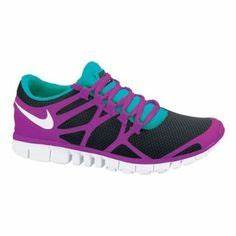 Neon blue and pink Nike running shoes cheap nike free