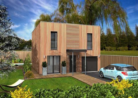 constructeur maisons clairlande bois pr 233 sente sa maison myrtil toit plat