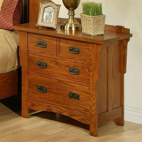 Oak Nightstand With Drawers by Ayca Heartland Manor Solid Oak 3 Drawer Nightstand 18 0661