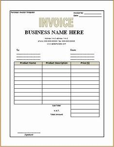 purchase invoice template excel word templates With where can i buy invoices
