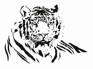 Both black and white tiger vector Free Vector / 4Vector