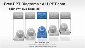 5 Spheres Stair Ppt Diagrams   Download Free