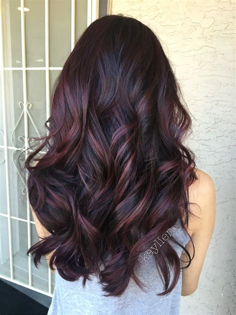 mahogany violet hair color the sexiest mahogany hair color inspiration hair fashion