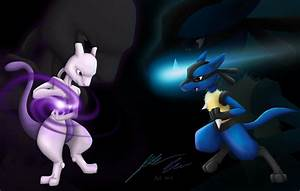 mewtwo vs lucario: final version by dragonflare36 on ...