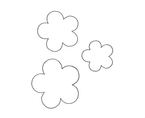 Flower Template 5 Petals by 20 Flower Petal Templates Pdf Vector Eps Free