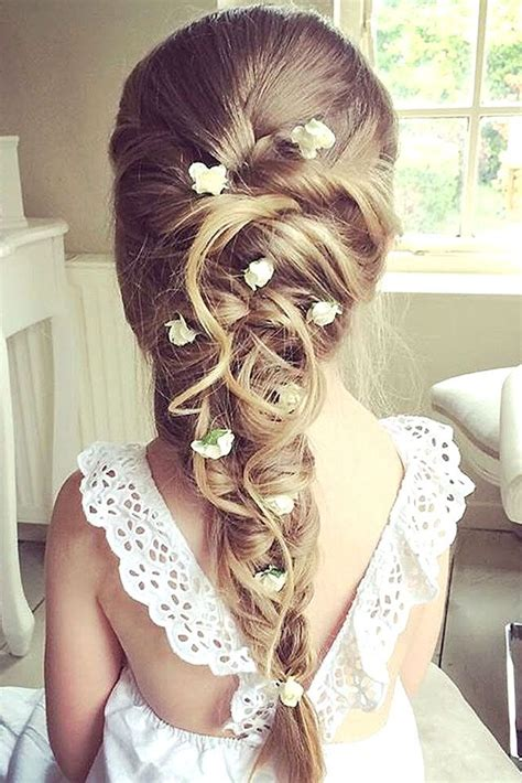 cute flower girl hairstyles  update fashion