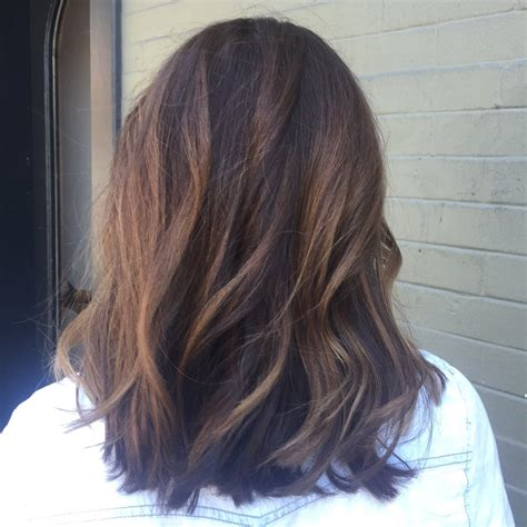 caramel balayage  long bob haircut   owner jennie altman yelp