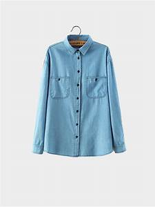 Light Blue Denim Shirt - US$11.95 -YOINS