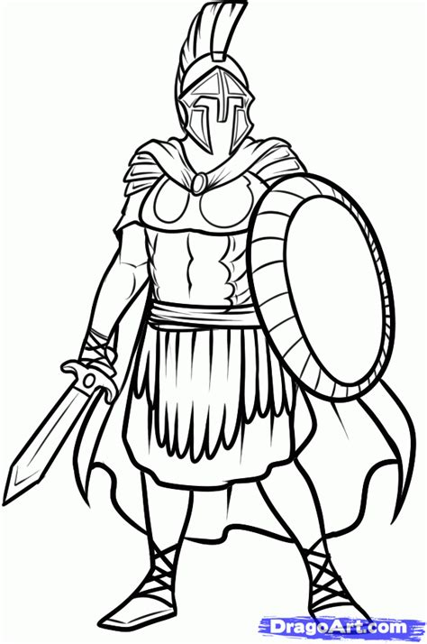 draw  roman soldier roman soldier step  step drawing