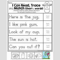 I Can Read, Trace And Match So Much Involved In This One Activity Sight Word Recognition