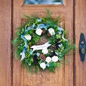 Weihnachtskranz Selber Machen : weihnachtliche dekoration f r einen festlichen hauseingang ~ Markanthonyermac.com Haus und Dekorationen