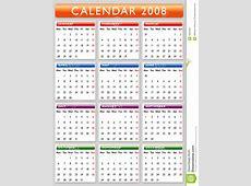 Calendário 2008 Imagens de Stock Imagem 2890484