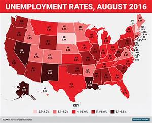 August State Unemployment Rate Map