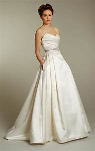 classic ivory silk a line wedding dress with embellished With ivory a line wedding dress