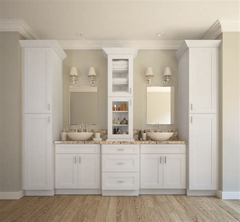 aspen white shaker ready  assemble bathroom vanities