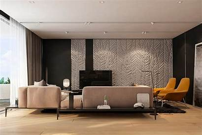 Texture Apartment Living Wall Modern Interior Iryna
