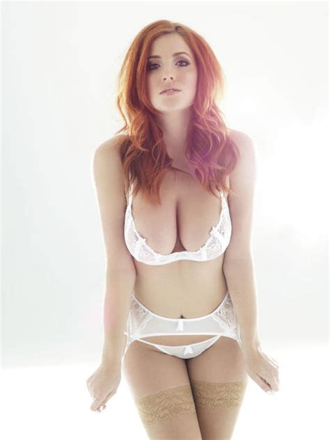 Busty Redhead In Lingerie