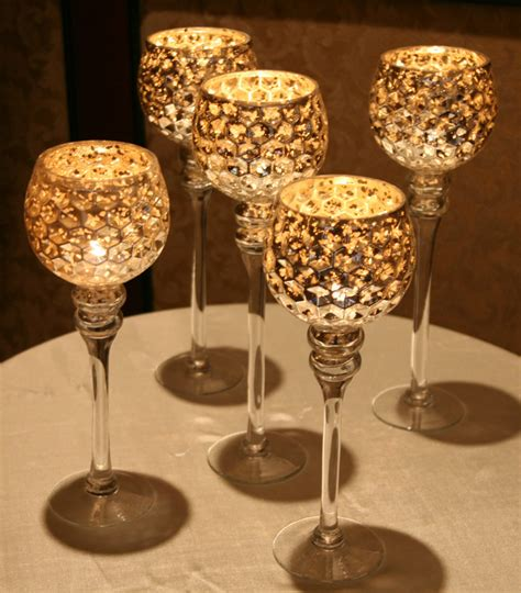 Gold Glass Candle Holders by Gold Candle Holders