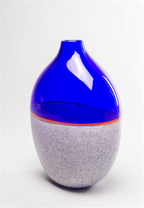 vaso rosso vaso grigio filo rosso franco schiavon glass gallery