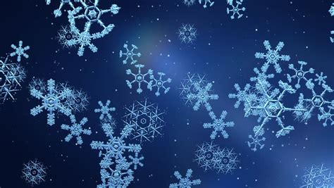 Animated Snowflake Wallpaper - snow flakes falling animated festive abstract background