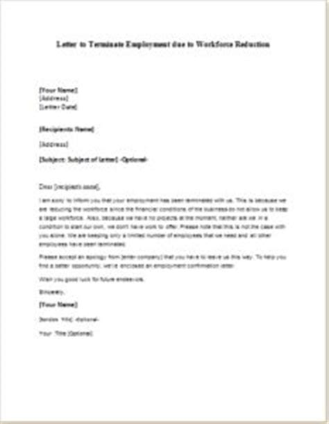 formal letter sle letter to terminate employment due to workforce reduction 32337