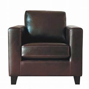 Fauteuil Cuir Maison Du Monde : fauteuil en cro te de cuir chocolat kennedy maisons du monde ~ Teatrodelosmanantiales.com Idées de Décoration