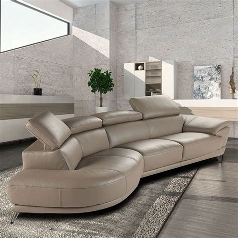 Living Room Furniture Ta by Marisol Leather Left Chaise Sectional Taupe Jm Furniture