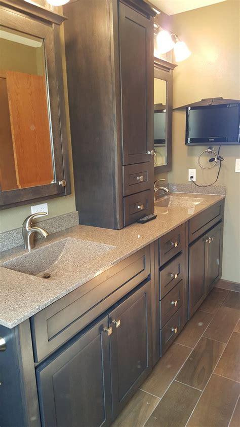 bertch bath plymouth style cabinets  oak shale bertch