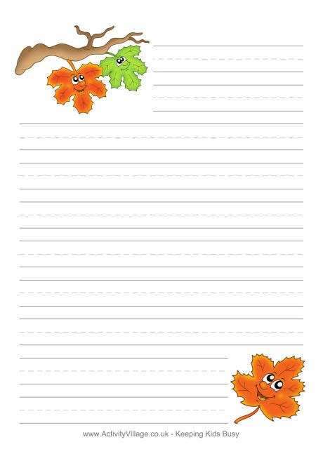 Gallery For > Fall Writing Template