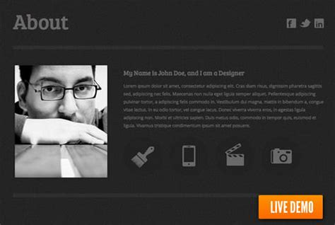 25 free html resume templates for your successful