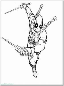 Ausmalbilder Zum Ausdrucken Ausmalbilder Deadpool Zum