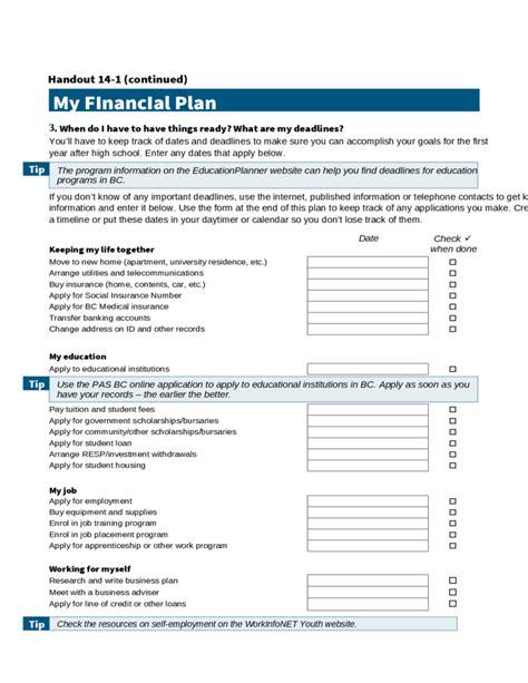 personal financial plan template personal financial plan calculator free