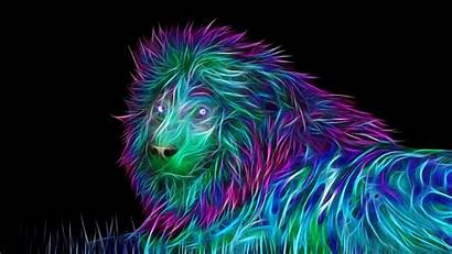 Abstract Lion 3d Wallpapertag 4k