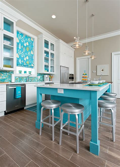 turquoise kitchen island in detail interiors house of turquoise 2969