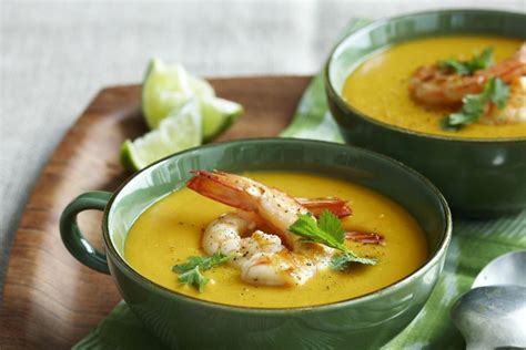 Thai Red Pumpkin Curry Recipe by Thai Style Red Curry Pumpkin Soup With Prawns