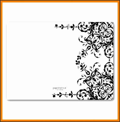 5 Blank Black and White Wedding Invitation Templates