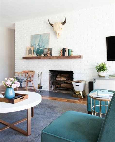 mid century modern mantle weekend makeover mid century eclectic artist emily henderson