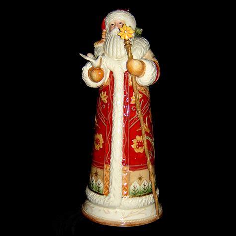 fitz floyd bianco santa figurine large figurines
