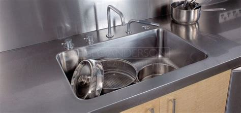 Stainless Steel Sink Countertop Integrated - industrial stainless steel sinks fully integrated sinks