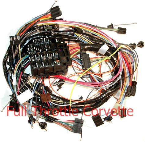 1971 corvette dash wiring harness for cars without air conditioning ebay