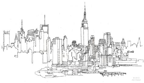 New York Line Drawing City Skyline Sketch Graph Equation Of A Line Segment Bar And In Excel 2016 Functions Formula For Explanation Pte The Dependent Variable Is Plotted On Function Tangent Statistics Definition