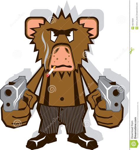 gangsta monkey stock vector illustration  pants shoes