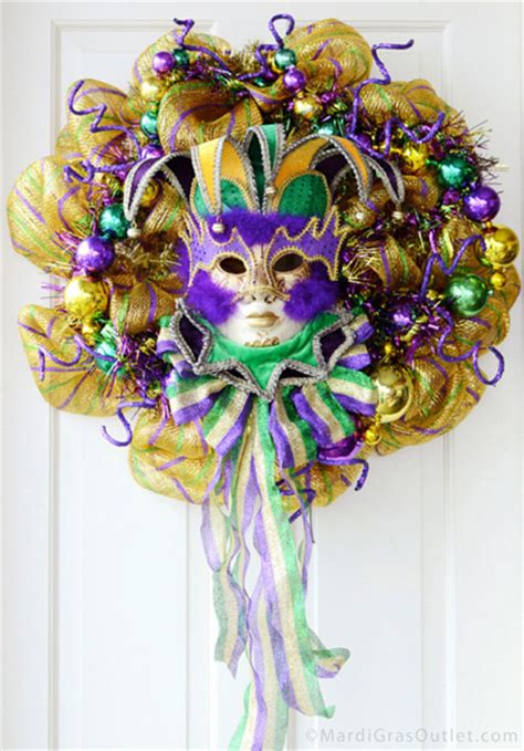 ideas by mardi gras outlet a mardi gras wreath with deco mesh