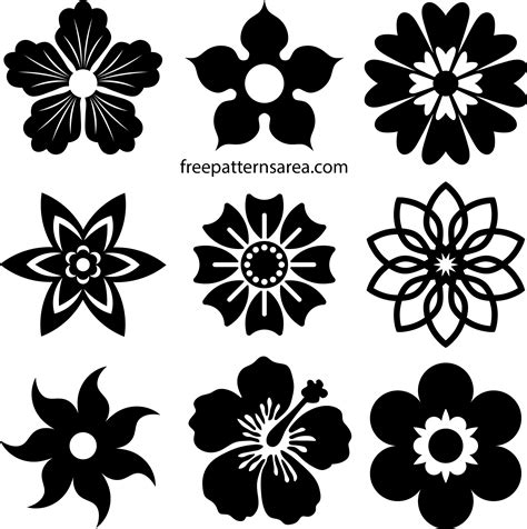 Free Flower Vectors & Printable Shapes File Download ...